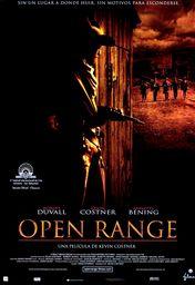 Cartel oficial en español de: Open Range