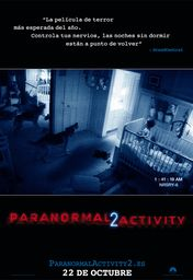 Cartel oficial en español de: Paranormal Activity 2