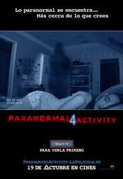 Cartel oficial en español de: Paranormal Activity 4