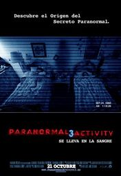 Cartel oficial en español de: Paranormal activity 3