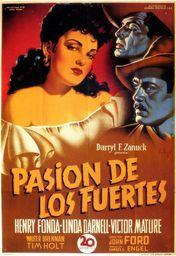 Cartel oficial en español de: Pasión de los fuertes