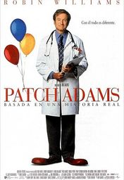 Cartel oficial en español de: Patch Adams