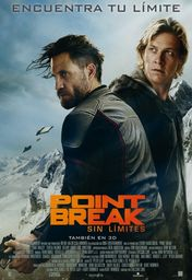 Cartel oficial en español de: Point Break (Sin límites)
