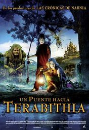Cartel oficial en español de: Un puente hacia Terabithia