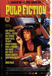 Cartel oficial en español de: Pulp Fiction