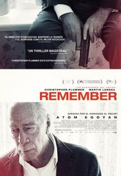 Cartel oficial en español de: Remember