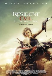 Cartel oficial en español de: Resident Evil: Capítulo final