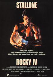 Cartel oficial en español de: Rocky IV
