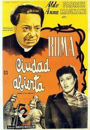 Cartel oficial en español de: Roma, ciudad abierta