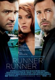 Cartel oficial en español de: Runner, Runner