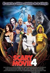 Cartel oficial en español de: Scary Movie 4