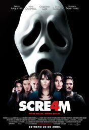 Cartel oficial en español de: Scream 4