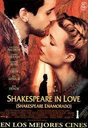 Cartel oficial en español de: Shakespeare in Love (Shakespeare enamorado)