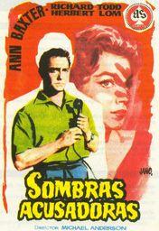 Cartel oficial en español de: Sombras acusadoras