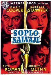 Cartel oficial en español de: Soplo salvaje