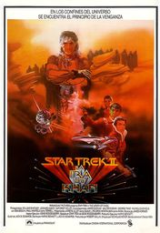 Cartel oficial en español de: Star Trek II. La ira de Khan