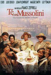 Cartel oficial en español de: Té con Mussolini
