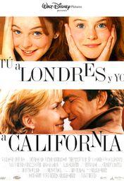 Cartel oficial en español de: Tú a Londres y yo a California