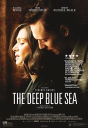 Cartel oficial en español de: The deep blue sea
