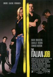 Cartel oficial en español de: The Italian Job