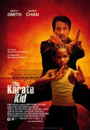 Cartel oficial en español de: The karate kid
