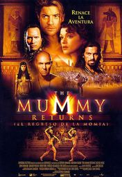 Cartel oficial en español de: The Mummy Returns (El regreso de la momia)