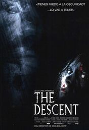 Cartel oficial en español de: The descent