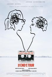 Cartel oficial en español de: The End of the Tour