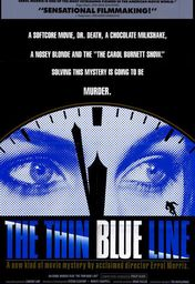 Cartel oficial en español de: The Thin Blue Line