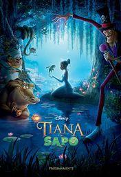 Cartel oficial en español de: Tiana y el sapo