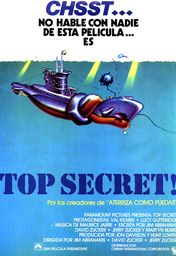 Cartel oficial en español de: Top Secret