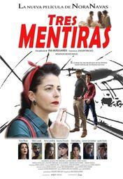 Cartel oficial en español de: Tres mentiras