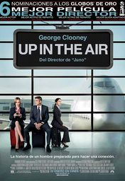 Cartel oficial en español de: Up in the air