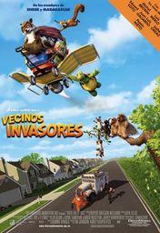 Cartel oficial en español de: Vecinos invasores