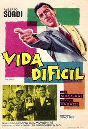 Cartel oficial en español de: Vida difícil