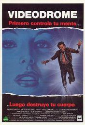 Cartel oficial en español de: Videodrome