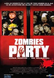 Cartel oficial en español de: Zombies Party