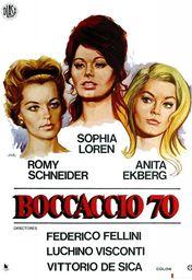 Cartel oficial en español de: Boccaccio '70