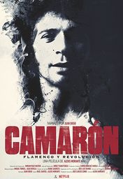Cartel oficial en español de: Camarón: flamenco y revolución