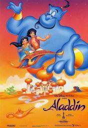 Cartel oficial en español de: Aladdin (Aladino)