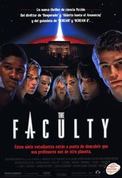 Cartel oficial en español de: The Faculty