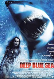 Cartel oficial en español de: Deep Blue Sea
