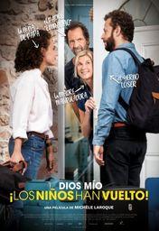 Cartel oficial en español de: Dios mío ¡los niños han vuelto!