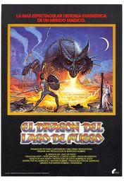 Cartel oficial en español de: El dragón del lago de fuego
