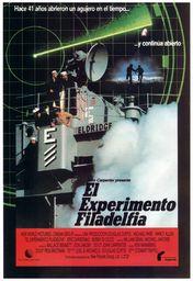 Cartel oficial en español de: El experimento Filadelfia