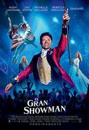 Cartel oficial en español de: El gran showman