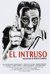 Cartel oficial en español de: El Intruso (The Intruder)