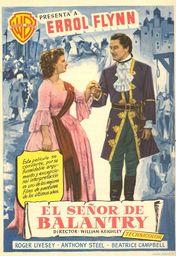 Cartel oficial en español de: El señor de Ballantry
