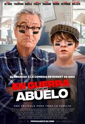Cartel oficial en español de: En guerra con mi abuelo