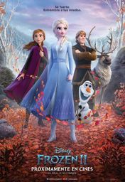 Cartel oficial en español de: Frozen II